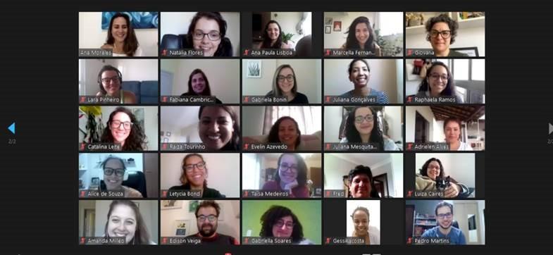 Zoom screenshot of participants